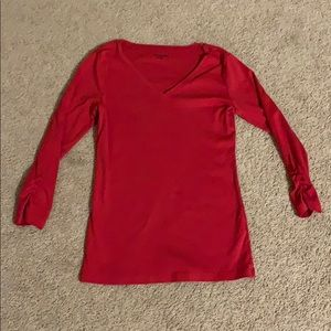 Caslon Red Long Sleeve Shirt Size Small